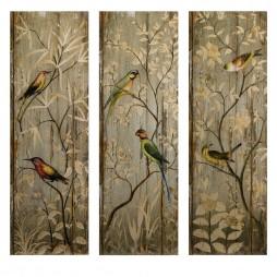 Calima Bird Wall Decor - Set of 3