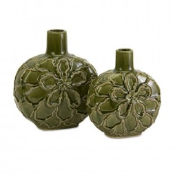 Poslie Dimensional Ceramic Flower Vases - Set of 2