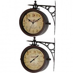 Charleston Two Sided Hanging Wall Clock