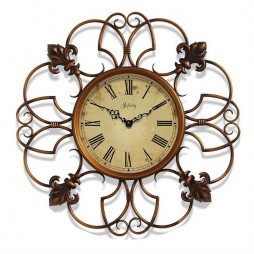 "Province Fleur de Lis Design 24"" Decorative Wall Clock"