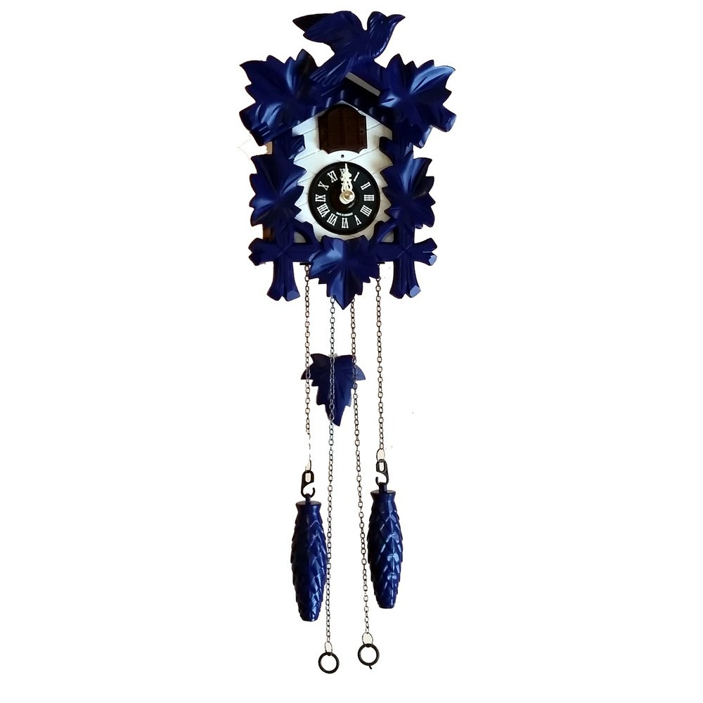 Quartz musical cuckoo clock blue - Colorful cuckoo clock ...