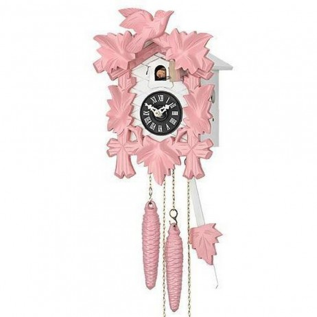 Quartz Musical Cuckoo Clock - Pink