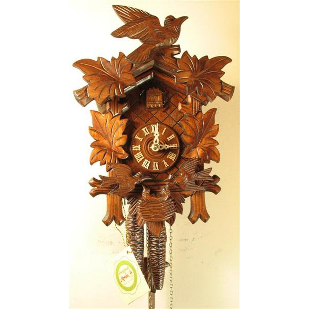 Feeding Birds Chalet Cuckoo Clock with One-Day Movement