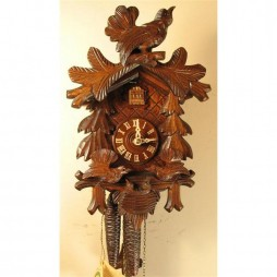 Rombach und Haas - German Hand Carved Cuckoo Clock with Feeding Birds and One-Day Movement