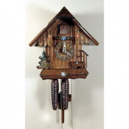 Sternreiter - German Cuckoo Clock with Still Water Pump and Pine Tree - One-day Movement 1246