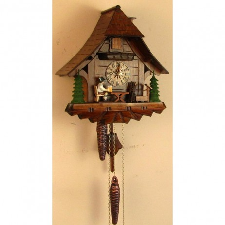 Sternreiter - German Carved Cuckoo Clock with One-Day Movement - Beer Drinker