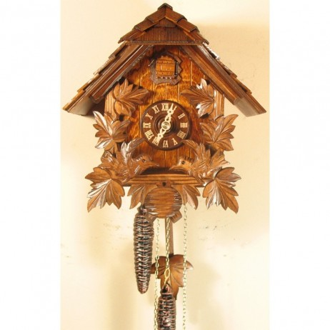 Rombach und Haas - German Feeding Birds Chalet Cuckoo Clock with One-Day Movement - 1249