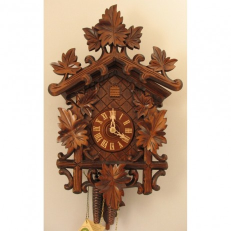 rombach und haas german cuckoo clock with one day movement 1250. Black Bedroom Furniture Sets. Home Design Ideas