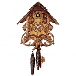 Rombach und Haas - Sword Lilies German Cuckoo Clock with One-day Movement 1262