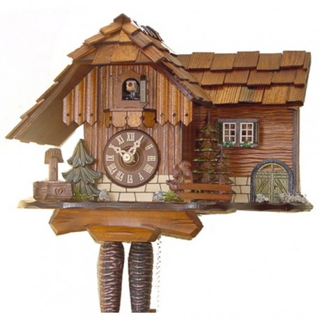 Rombach und Haas - German Cuckoo Clock with Animated Jumping Squirrel - One-day Movement 1286