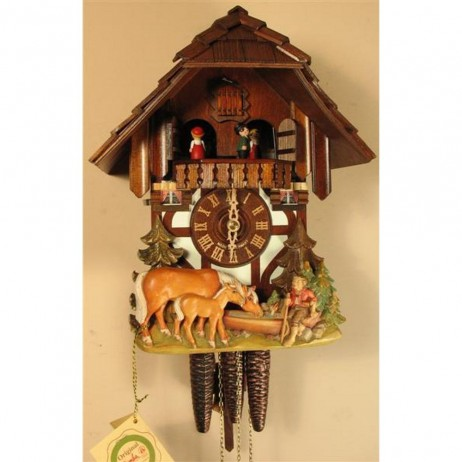 Cuckoo Clock One Day Musical Movement Musical Horses and Boy