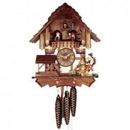 Cuckoo Clock One Day Musical Movement Rombach und Haas Happy Wanderer