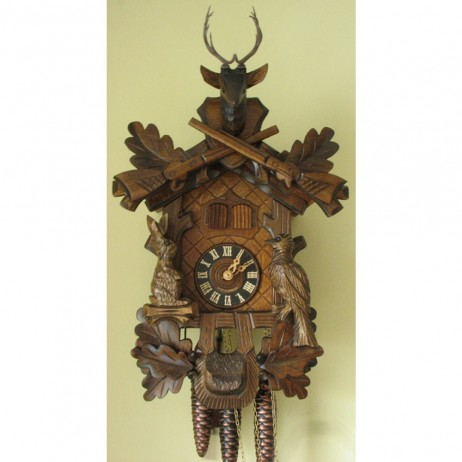 Sternreiter Cuckoo Clock with Hunting Theme and One Day Musical Movement