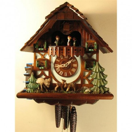 Rombach und Haas Jumping Deer Cuckoo Clock with One Day Musical Movement