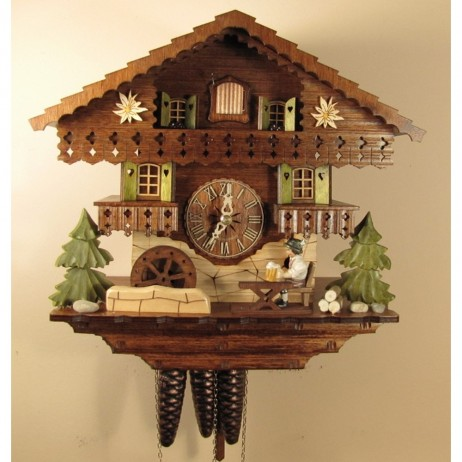Cuckoo Clock Musical Bavarian Beer Drinker 1318