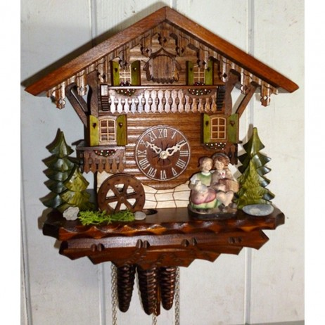 Kissing Couple Cuckoo Clock with One Day Musical Movement