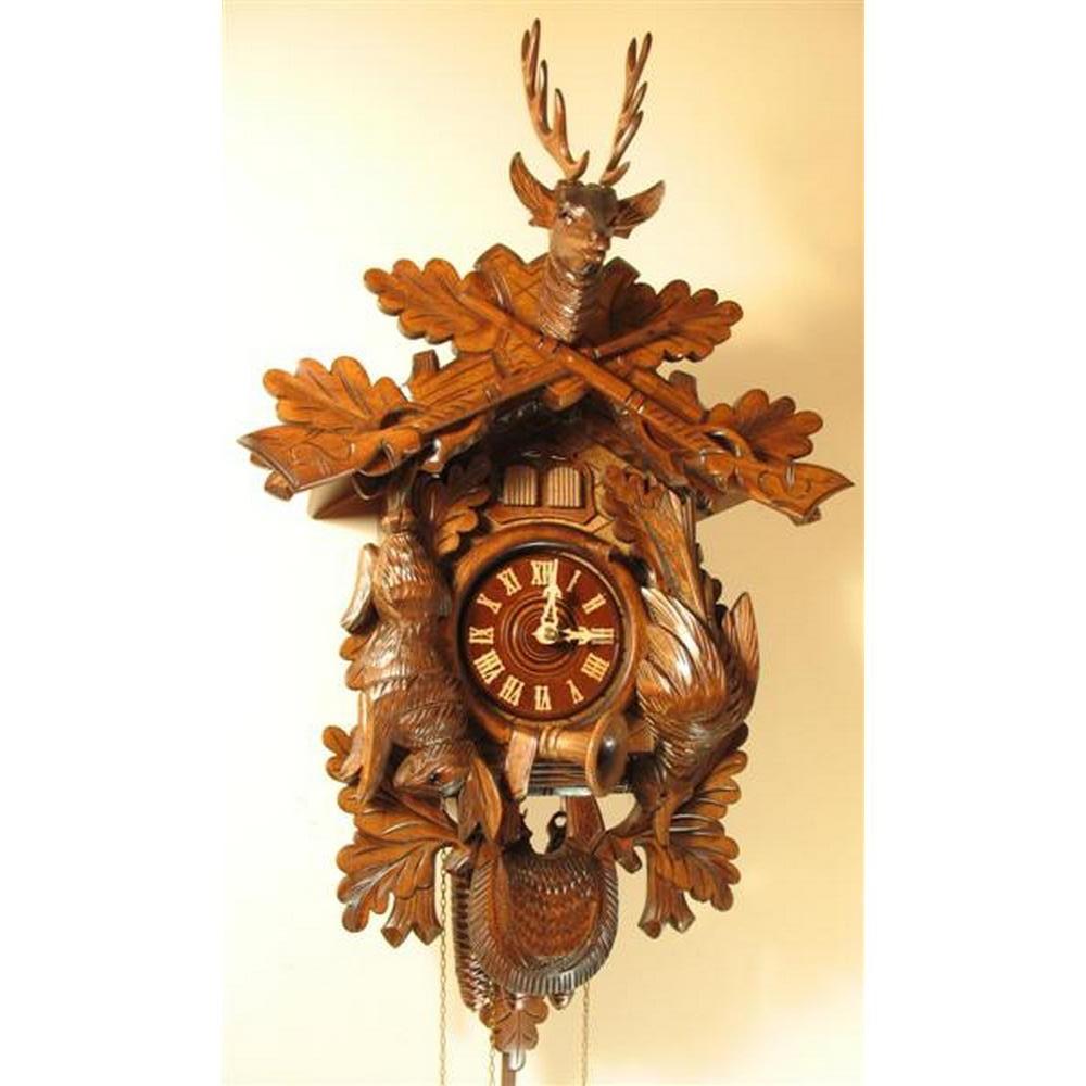 German Cuckoo Clock Cuckoo Quail Hunting Design