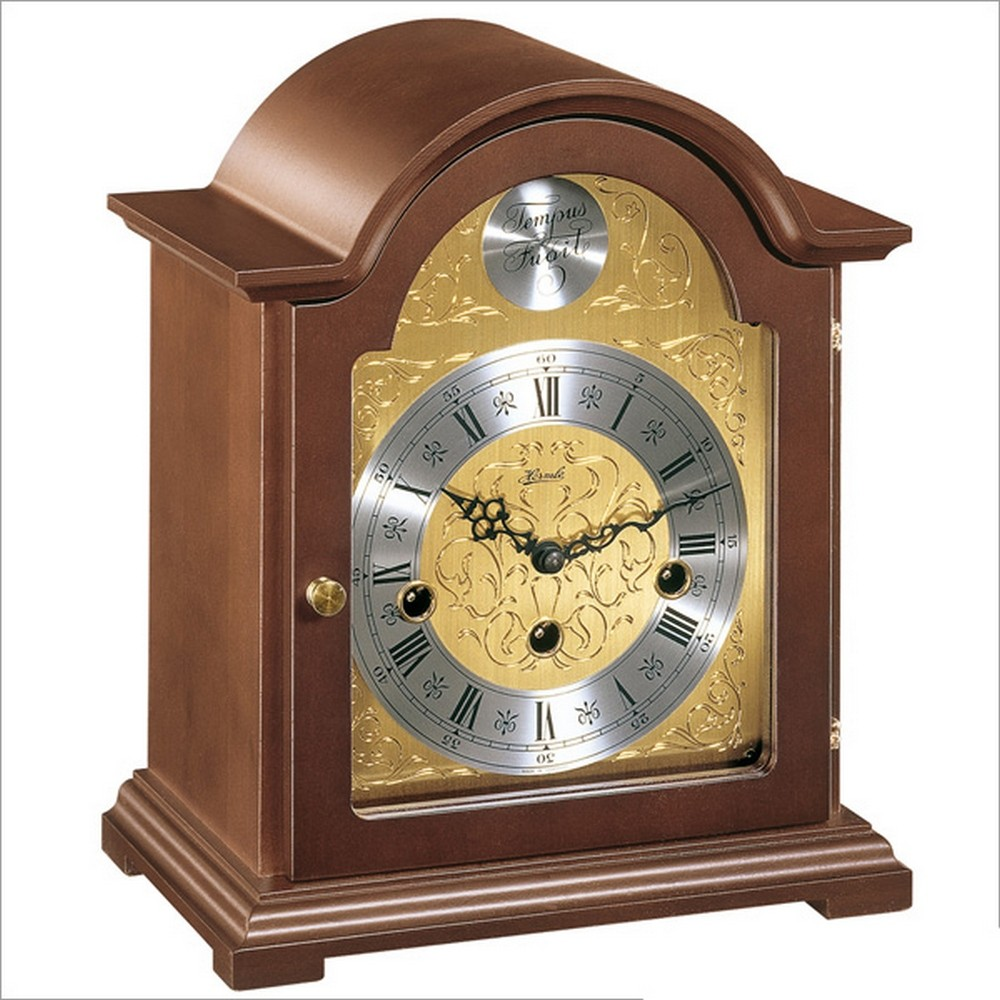 German Clock Hermle Bethnal Mantel Clock With Key Wind
