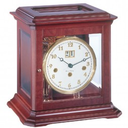 Hermle Boston Mechanical Key-wound Mantel Clock 22840 070340A - Mahogany