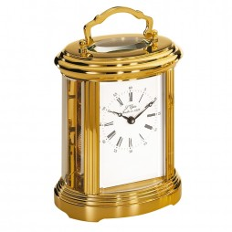 L'Epee Ovale Swiss-made Gold-Plated Carriage Clock