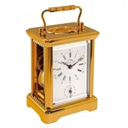 L'Epee Corniche Gold-Plated Carriage Clock - Alarm