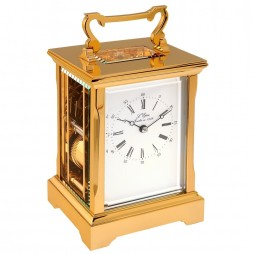 L'Epee Anglaise Gold-plated Carriage Clock - Time & Strike -  61.6741/011