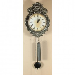 Hermle Aachen 17th Century Reproduction Morbier Clock with Pewter Finish 70823 000701