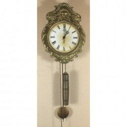 Hermle Aachen 17th Century Reproduction Morbier Clock with Antique-brass Finish