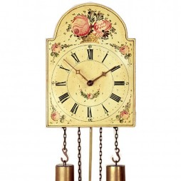 Rombach und Haas The Shield Black Forest Painted Dial Antique Reproduction Clock 7273