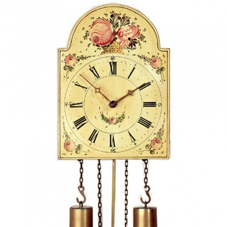 The Shield Painted Dial Antique Reproduction Clock