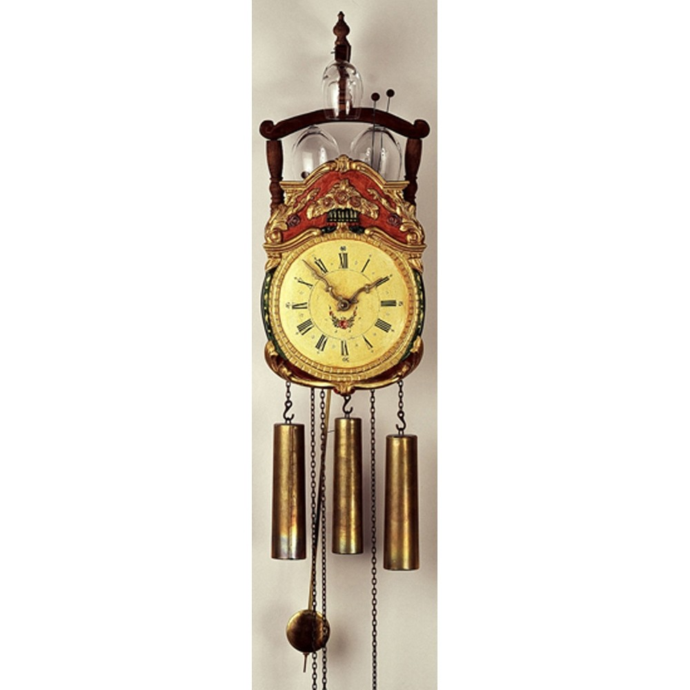 rombach und haas rottenburg glass bell reproduction wall clock 7304g. Black Bedroom Furniture Sets. Home Design Ideas