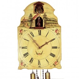Rombach und Haas Kapuziner Reproduction Wall Clock with Animated Bell Ringing Monk  7378