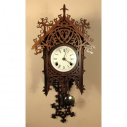 Rombach und Haas Bamberg Mechanical Wall Clock - Walnut Finish