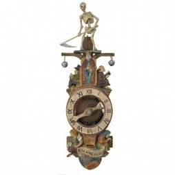 "Rombach und Haas The Reaper ""All Are Mine""  17th Century Reproduction Clock 7641"