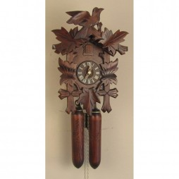 Sternreiter - German Hand Carved Cuckoo Clock with Eight-Day Movement-Wooden Weights