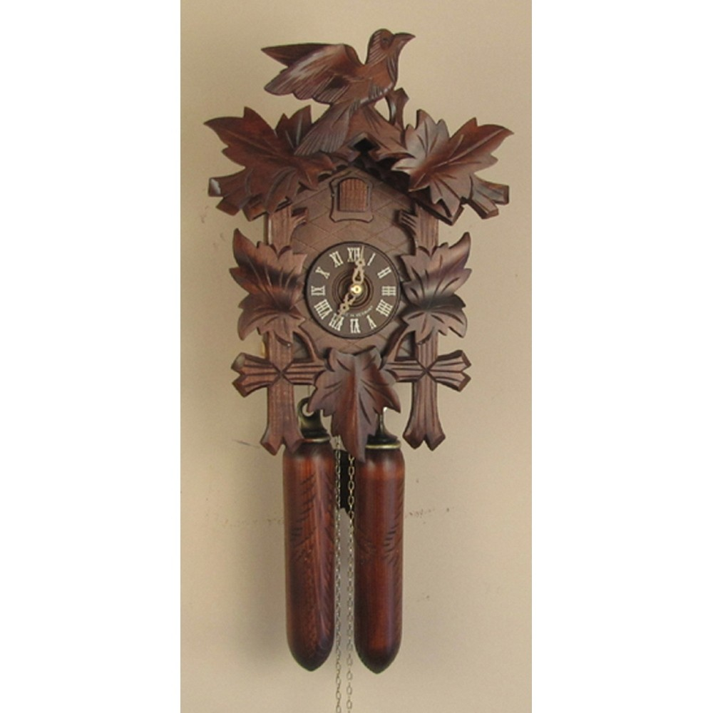 German Hand Carved Cuckoo Clock With Eight Day Movement