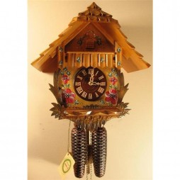 Rombach und Haas Chalet with Flowers Cuckoo Clock with 8 Day Movement
