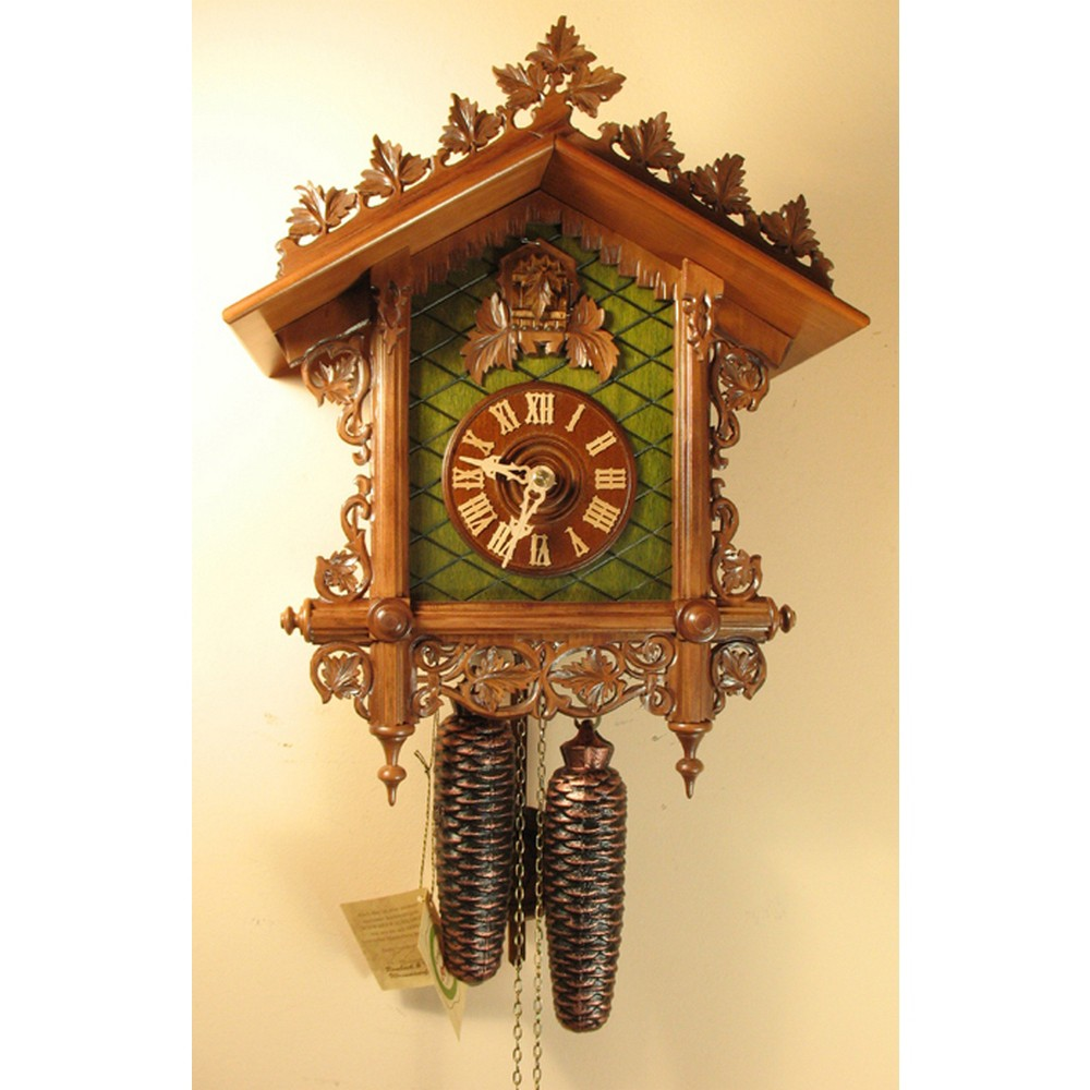 Cuckoo Clock 8 Day Movement Romach Und Haas Carved Bahnh