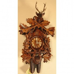 Rombach und Haas Before the Hunt Cuckoo Clock with 8 Day Movement
