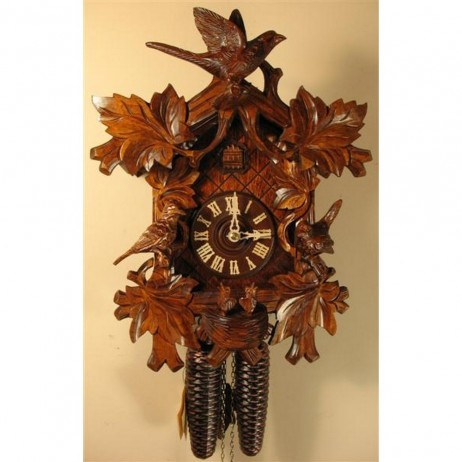 Rombach und Haas Cuckoo Clock with Birds and 8 Day Movement