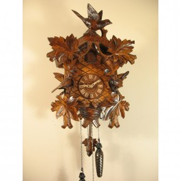 Rombach und Haas Musical Quartz Cuckoo Clock with Hand Carved Birds