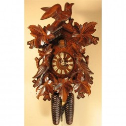 German Hand Carved Cuckoo Clock with Eight-Day Movement