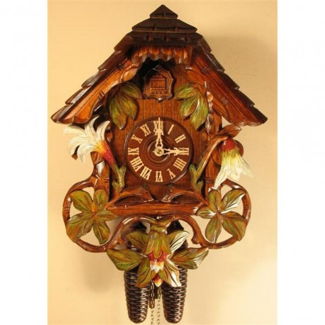 Rombach und Haas Sword Lilies Cuckoo Clock with 8 Day Movement