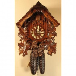 Rombach und Haas Cuckoo Clock 8 Day Movement with Hooting Owls