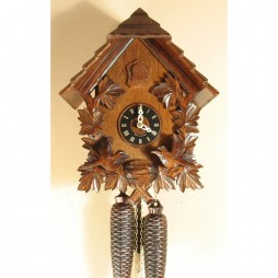 Sternreiter Feeding Birds Chalet Cuckoo Clock with 8 Day Movement