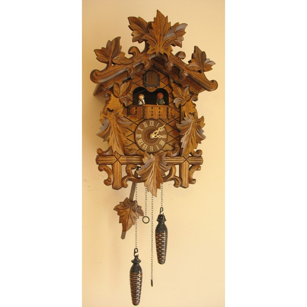 rombach und haas quartz cuckoo clock with animated dancers 8250qm. Black Bedroom Furniture Sets. Home Design Ideas