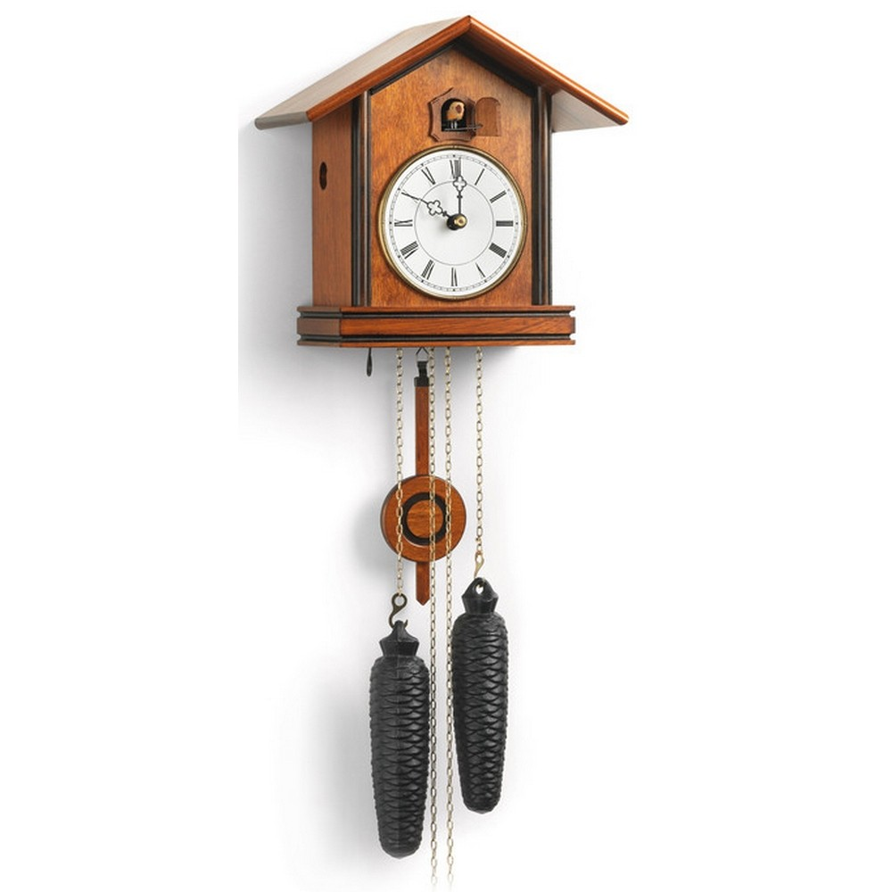 romach und haas bauhaus cuckoo clock with 8 day movement 8257. Black Bedroom Furniture Sets. Home Design Ideas