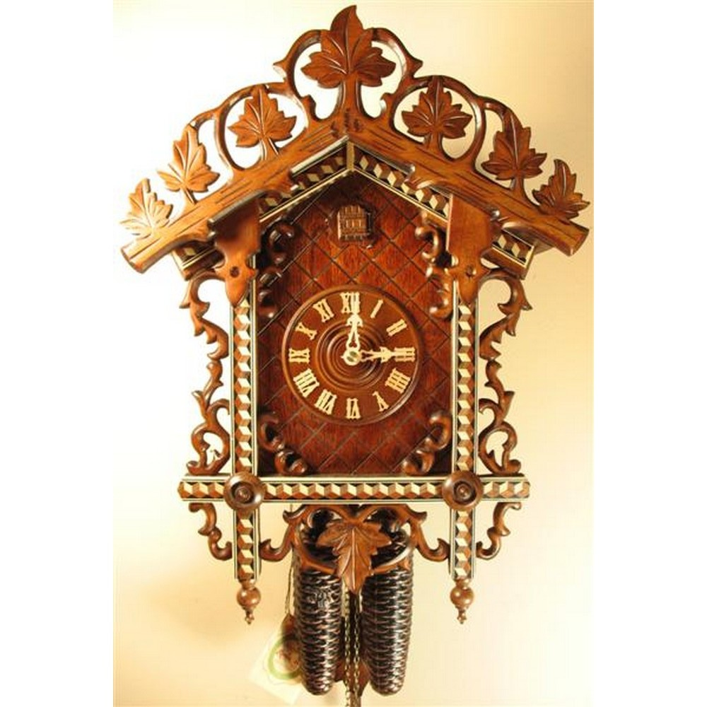 Romach Und Haas Bahnhusle Cuckoo Clock With 8 Day Movement