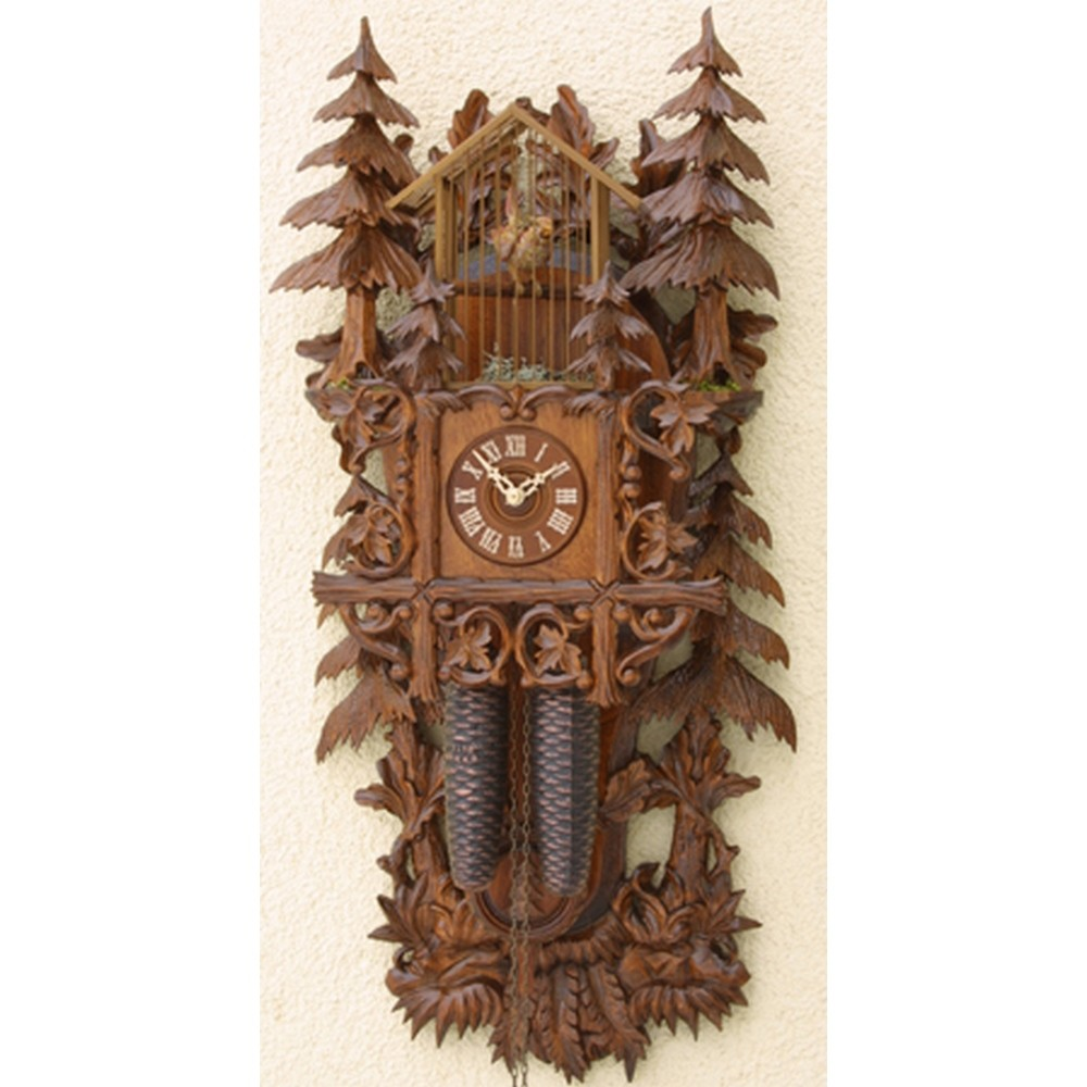Romach Und Haas Birdcage Cuckoo Clock With 8 Day Movement 8295