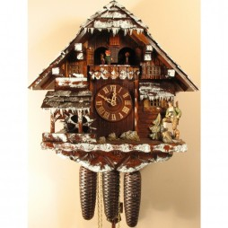 Rombach und Haas Winter Scene Cuckoo Clock with 8 Day Movement
